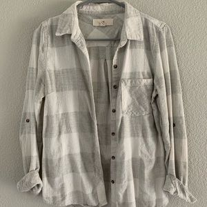 Women's grey and white flannel
